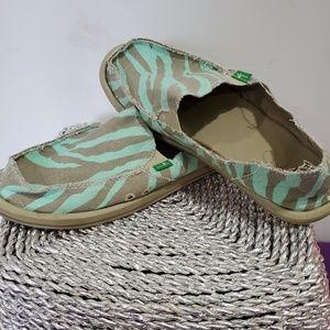 Sanuk Teal/Gray Beach Shoes